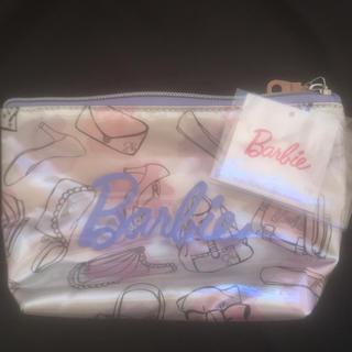 バービー(Barbie)の【美品】バービー  メイクポーチ パステルカラー(ポーチ)