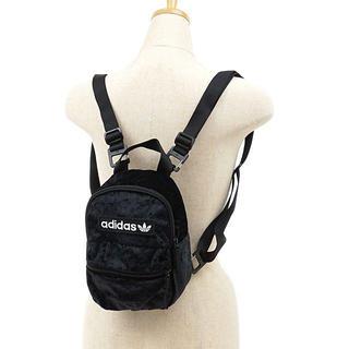 adidas - 黒  ベルベット ミニリュック