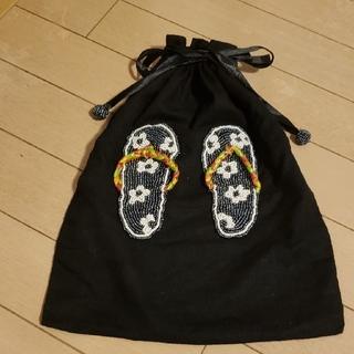 フランフラン(Francfranc)の巾着 ベトナム ビーズ ハンドメイド トラベル用品 スワロフスキー (旅行用品)