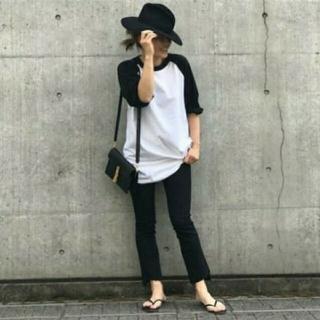 DEUXIEME CLASSE - 新品◆CHAMPION ラグランBIG Tシャツ◆ブラック&ホワイト