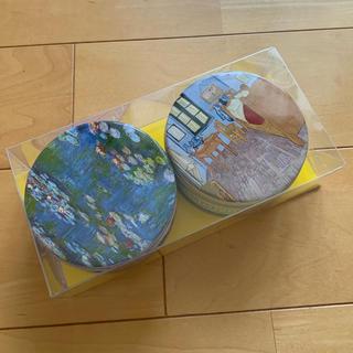 松方コレクション モネ ゴッホ 菓子空き缶(容器)