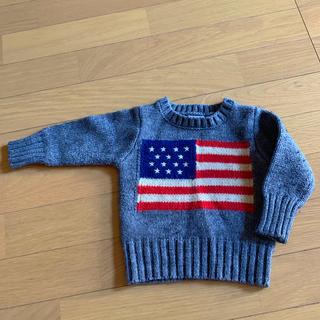 ブリーズ(BREEZE)のブリーズ アメリカ 星条旗セーター80㎝(ニット/セーター)