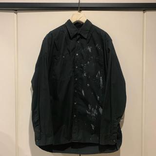 ラフシモンズ(RAF SIMONS)のRAF SIMONS 2002-2003aw 後染めペンキ加工シャツ(シャツ)