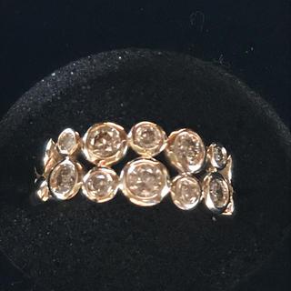 K18 ブラウンダイヤモンドリング(リング(指輪))