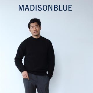 マディソンブルー(MADISONBLUE)の【MADISON BLUE 】メンズライン ウールハイゲージクルーネックニット(ニット/セーター)