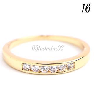 W17 リング 16号 人工石 ホワイトサファイア ゴールド(リング(指輪))