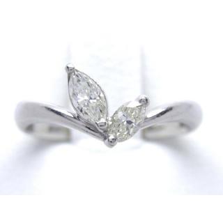 お値引き不可 PT900 合計0.38ct 天然 ダイヤ リング(リング(指輪))
