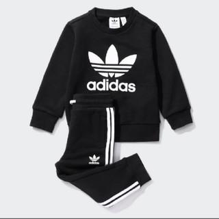 adidas - 新品 アディダス スウェット 上下 セットアップ キッズ 90 ブラック 黒