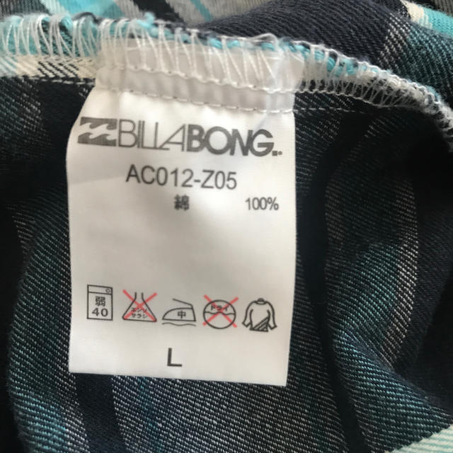 billabong(ビラボン)のBILLA BONG シャツ メンズのトップス(シャツ)の商品写真