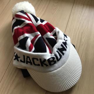 パーリーゲイツ(PEARLY GATES)のジャックバニーのニット帽  ユニオンジャック(ニット帽/ビーニー)