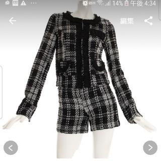 デイジーストア(dazzy store)のチェック柄ツイードパンツスーツ(スーツ)