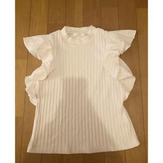 ミーア(MIIA)のミーア 肩フリルリブニット トップス(カットソー(半袖/袖なし))