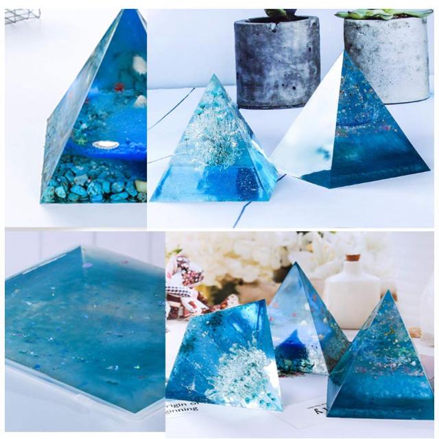 シリコンモールドピラミッド型 ハンドメイドの素材/材料(各種パーツ)の商品写真