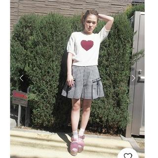 メリージェニー(merry jenny)の♥merry jenny ギンガムチェックキュロット(ミニスカート)