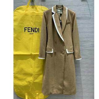 フェンディ(FENDI)のFendiフェンディ ロングジャケット 可愛いリボン トレンチコート 防塵袋付き(ロングコート)
