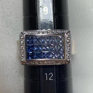 JEUNET ジュネ サファイア ダイヤモンド リング 指輪(リング(指輪))