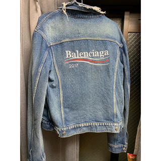 Balenciaga - バレンシアガ★17AW Campaign Logo Denim Jacket★