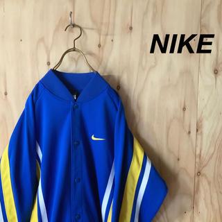 ナイキ(NIKE)の【美品】NIKE スナップボタン マルチカラー トラックトップ ブルー(ジャージ)