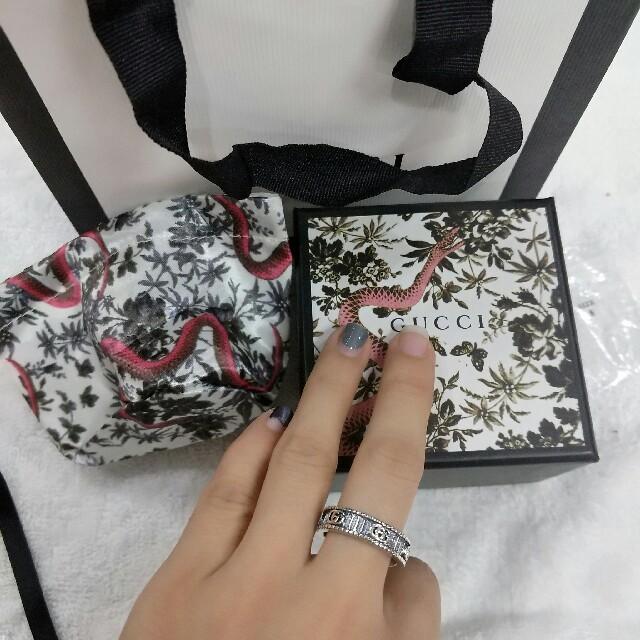 Gucci(グッチ)の新品グッチGucci 男女兼用 リング 指輪 ヒップホップ 超美品 メンズのアクセサリー(リング(指輪))の商品写真