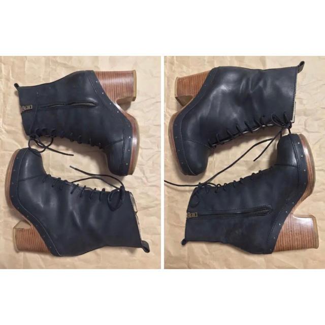 ACNE(アクネ)のレースアップショートブーツ レディースの靴/シューズ(ブーツ)の商品写真