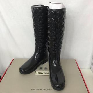 ハンター(HUNTER)の新品■HUNTER ハンター レインブーツ キルティング レア 25cm (レインブーツ/長靴)