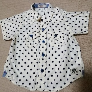 ミキハウス(mikihouse)の値下げ☆MIKIHOUSE  半そでシャツ  男の子 80センチ(シャツ/カットソー)