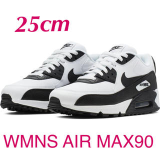 ナイキ(NIKE)のNIKE WMNS AIR MAX 90 白黒 25cm(スニーカー)