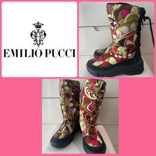 エミリオプッチ(EMILIO PUCCI)のエミリオプッチ プッチ柄 ブーツ(ブーツ)