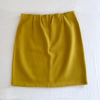 アウラアイラ(AULA AILA)のAULAAILA(アウラアイラ)美品タイトスカート♡流行りのイエロー(ミニスカート)