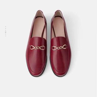 ザラ(ZARA)のZARA レザーローファー定価8990円(ローファー/革靴)