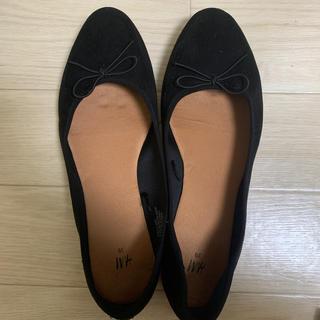 エイチアンドエム(H&M)のh&m バレエシューズ 黒(バレエシューズ)