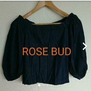 ローズバッド(ROSE BUD)のROSE BUD インディゴ トップス(カットソー(長袖/七分))
