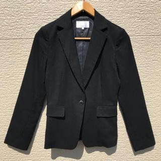 エムプルミエ(M-premier)のM-PREMIER エムプルミエ ジャケット 黒 ブラック 36(テーラードジャケット)