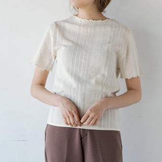 カスタネ(Kastane)のKastane メロウレースジャガードTee(Tシャツ(半袖/袖なし))