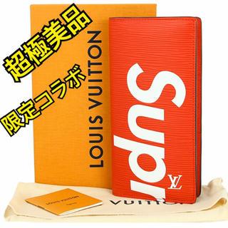 シュプリーム(Supreme)の★VUITTON supreme コラボ ヴィトン  シュプリーム エピ 長財布(財布)