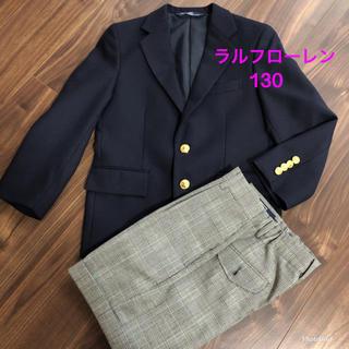 POLO RALPH LAUREN - 極美品!ラルフローレン 濃紺 スーツ フォーマル 130 入学式 お受験 卒園式