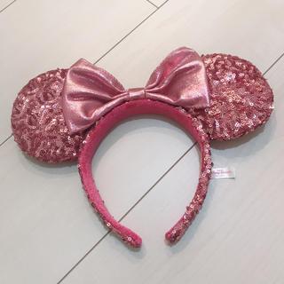 ディズニー(Disney)のディズニー カチューシャ スパンコール ミニーちゃん ピンク(カチューシャ)