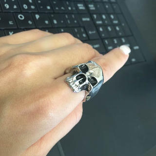 重みあり!骸骨指輪 髑髏リング  (リング(指輪))