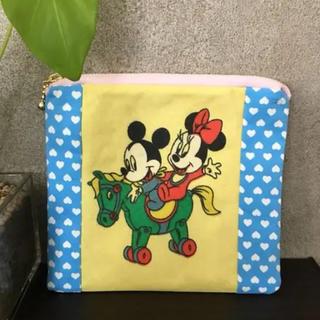 Disney - ベビーミッキーミニー ビンテージ生地 ポーチ