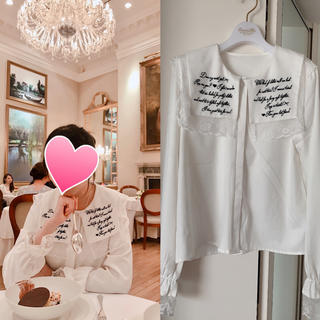 ユメテンボウ(夢展望)の夢展望♡ セーラーカラー 刺繍ブラウス 白(シャツ/ブラウス(長袖/七分))