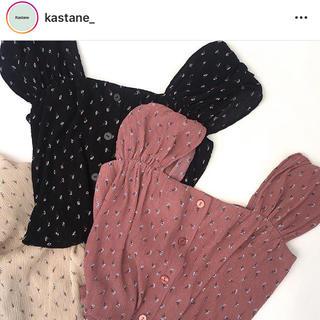 カスタネ(Kastane)のkastane ビスチェ(black)(カットソー(半袖/袖なし))