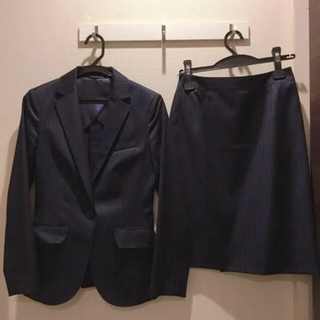スーツカンパニー(THE SUIT COMPANY)のネイビー 紺 上下 スカートスーツ(スーツ)
