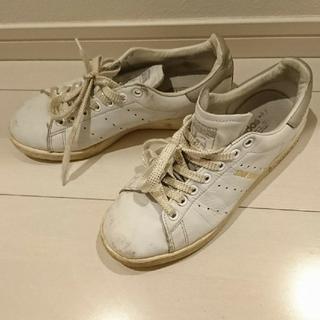 アディダス(adidas)のadidas スタンスミス 24cm グレー シューレース(スニーカー)