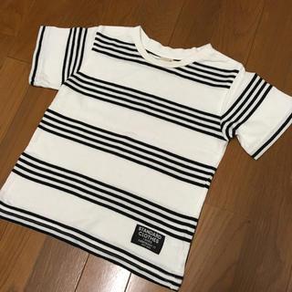 プティマイン(petit main)のpetit main ボーダーTシャツ(Tシャツ/カットソー)