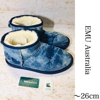 エミュー(EMU)のEMU Australia ショート ムートン ブーツ 26 インディゴ(ブーツ)