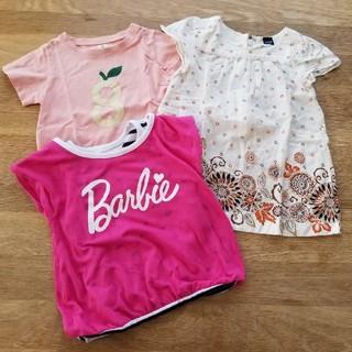 バービー(Barbie)の女の子 トップス セット(Tシャツ/カットソー)