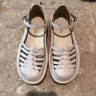 ベルメゾン(ベルメゾン)の本革フットベッドフィッシュボーンシューズ(ローファー/革靴)