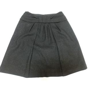 ナチュラルビューティーベーシック(NATURAL BEAUTY BASIC)のNATURAL BEAUTY BASIC スカート ラメ入り黒 sizeXS(ひざ丈スカート)