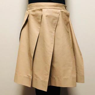 ヴィヴィアンウエストウッド(Vivienne Westwood)のデザインプリーツスカート★ ヴィヴィアンウエストウッド★ベージュ(ひざ丈スカート)