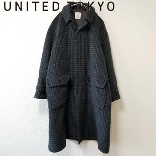 ユナイテッドアローズ(UNITED ARROWS)のUNITED TOKYO オーバーサイズ チェック柄 ウールコート(チェスターコート)